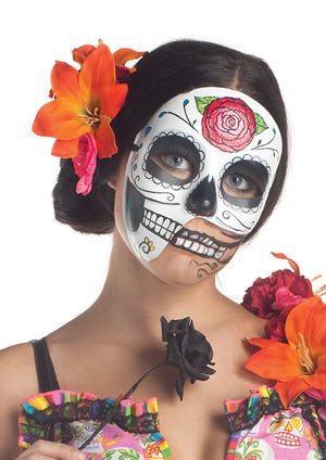 コスチューム LPKM1560 Day of the Dead 3/4 Mask