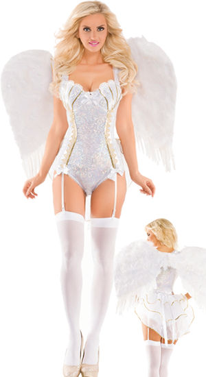 コスチューム LPKPK441-BWT2201 Sweet Angel Deluxe Costume with Feather Wing