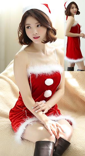 コスチューム LZZAKSD1513 Santa Costume with Pom Pom