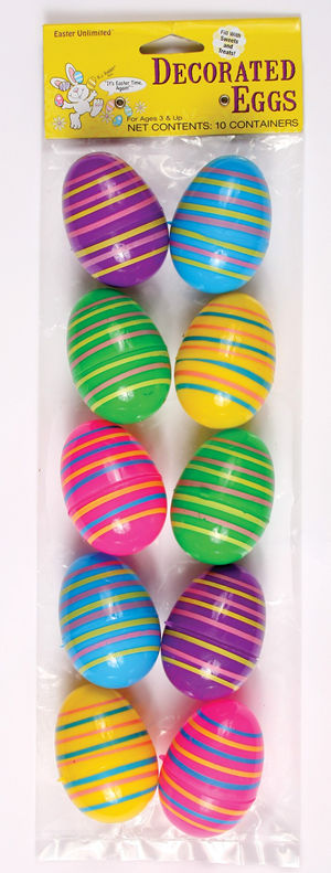コスチューム LFU3032CC Decorative Easter Eggs 10 Pack