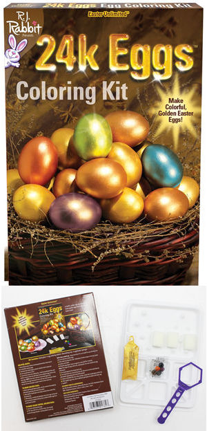 コスチューム LFU1782C 24k Gold Easter Egg Coloring Kit