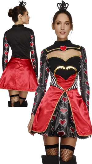 コスチューム LSY43479 Fever Queen of Hearts Costume