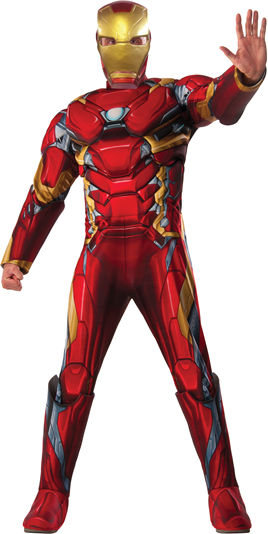 コスチューム LRU810968 Deluxe Muscle Chest Adult Iron Man Costume