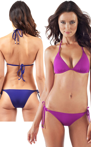 輸入水着 LVDE01-Z01-MULB Envy Push Up Brazilian Cut String Bikini