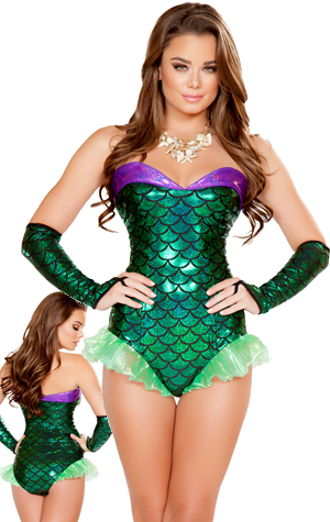 コスチューム LRB4664 Green Mermaid Costume