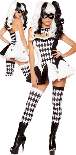 コスチューム LRB10044 4pc Devious Jester Costume