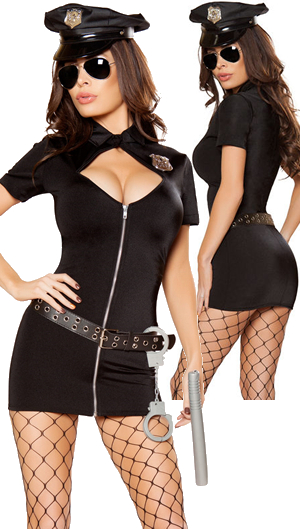 コスチューム LRB10065 6pc Police Hottie Costume