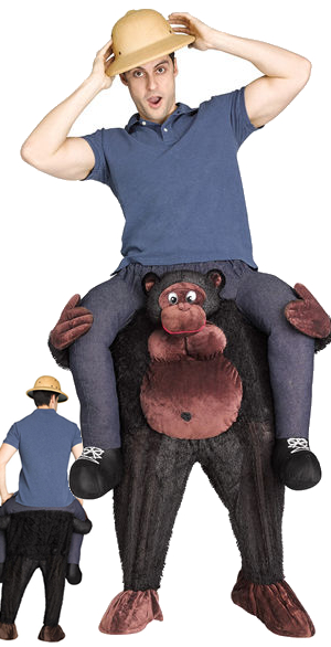 コスチューム LFU119634 Carry Me Gorilla Costume