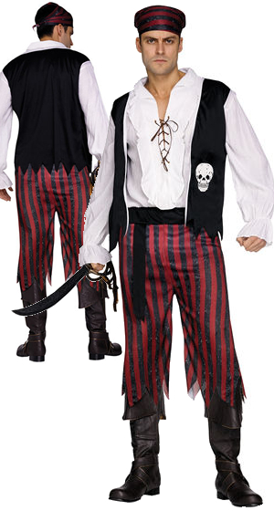 コスチューム LFU9920 Pirate Mens Costume