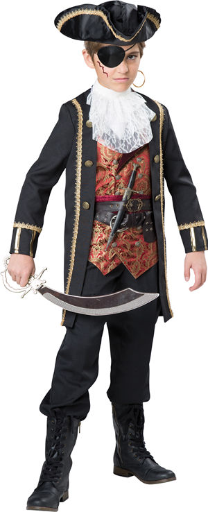 コスチューム LIC17099 Captain Scurvy Kids Costume