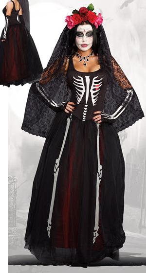 コスチューム LDG9903-10003 Ms. Bones Female Costume with Headpiece