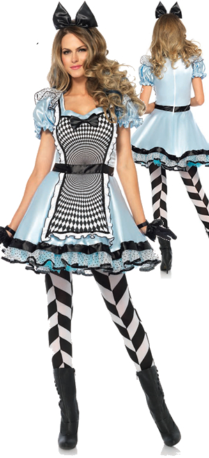 コスチューム LLA85533 Hypnotic Miss Alice Costume 2pc