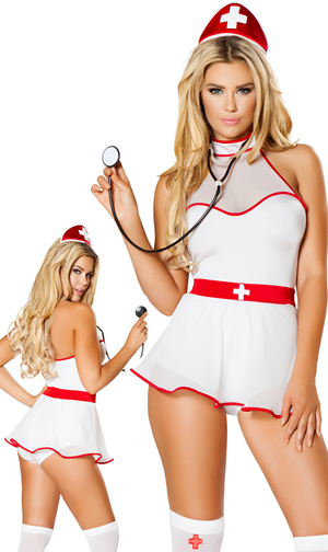 コスチューム LRB4759 4pc Naughty Nurse Nightingale Costume