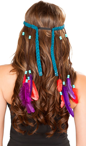 コスチューム LRBH4725 Turquoise Indian Headband
