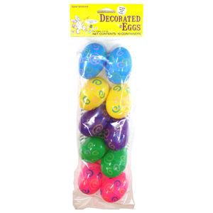 コスチューム LFU3032CL Decorative Easter Eggs 10 Pack