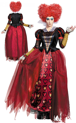 コスチューム LDS10184 Red Queen Deluxe Adult Costume