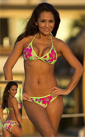 輸入水着 LUJH227 Hibiscus Isle Bikini