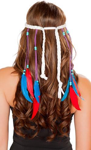 コスチューム LRBH4724 White Indian Headband