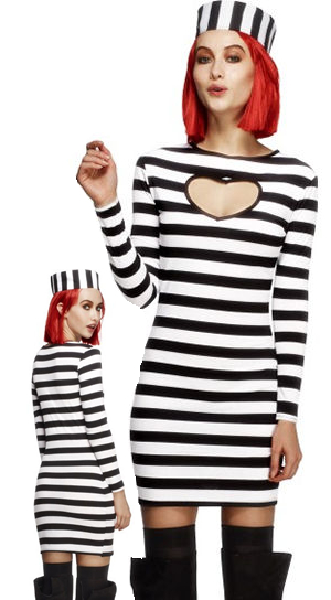 コスチューム LSY26946 Fever Convict Costume
