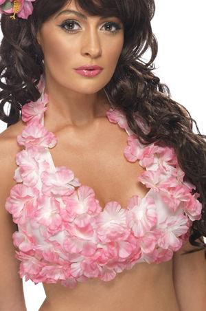 コスチューム LSY34018 Hawaiian Flowered Halterneck Top
