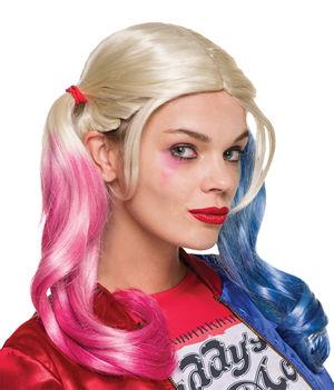 コスチューム LRU32944 Adult Harley Quinn Wig