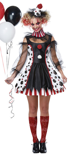 コスチューム LCC01435 Twisted Clown Children Costume