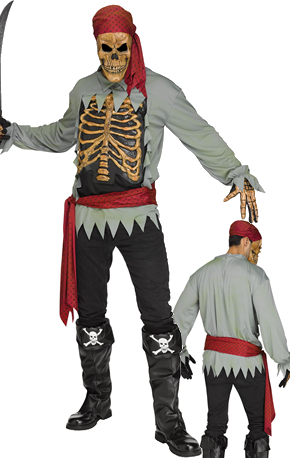 コスチューム LFU132464 Skeleton Pirate Costume