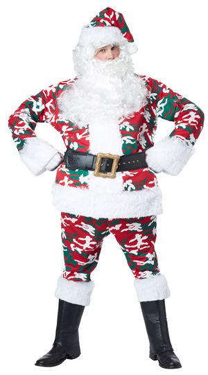 コスチューム LCC01403 Camo Santa Suit Costume