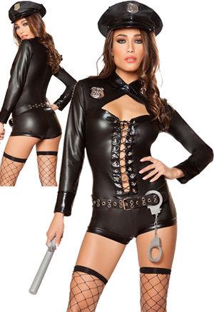 コスチューム LRB10064 4pc Code 4 Police Costume