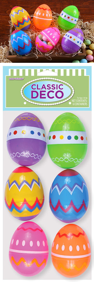 コスチューム LFU3075 Classic Deco Easter Eggs 6 Pack