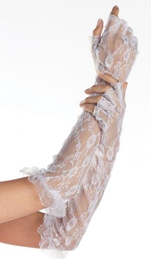 コスチューム LBW3002 Fingerless Elbow Length Lace Gloves