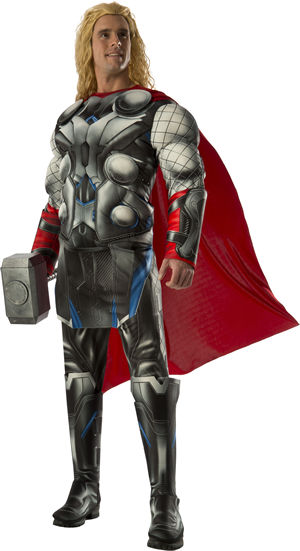 コスチューム LRU810293 Deluxe Muscle Chest Adult Thor Costume