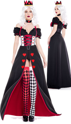 コスチューム LML70941 Enchanting Royal Heart Queen Costume