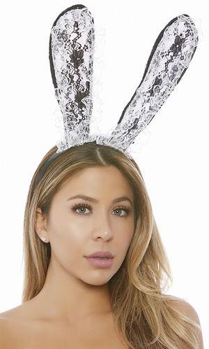 コスチューム LFP997958 Two-Toned Lace Bunny Ear Headband