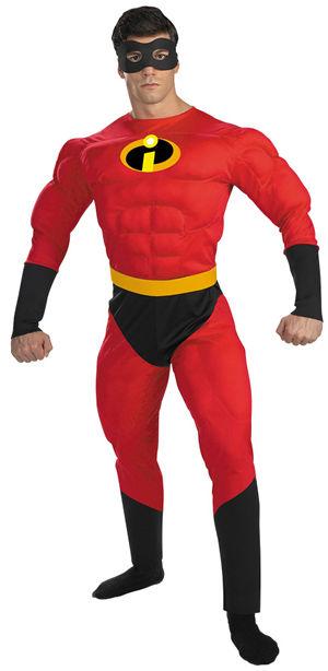 コスチューム LDS5368 Mr.Incredible Deluxe Muscle Adult Costume