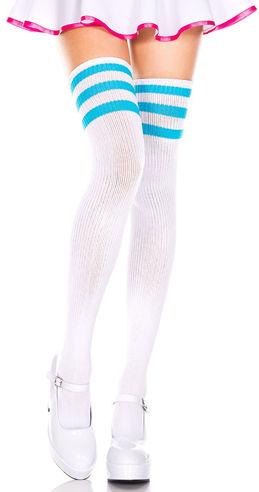 コスチューム LML4245 Athletic Acrylic Thigh Hi with Striped Top