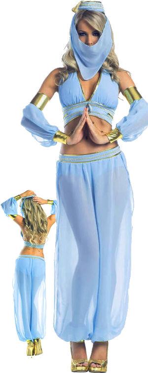 コスチューム LBW1544 Aladdins Sexy Genie Costume 7pc Set