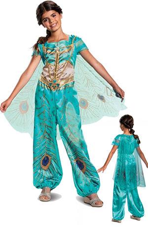 コスチューム LDS22430 Jasmine Teal Classic Girls Costume