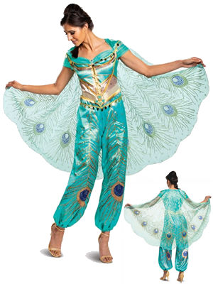 コスチューム LDS22456 Jasmine Teal Deluxe Adult Costume