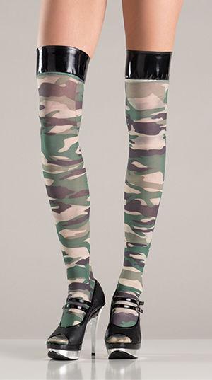 コスチューム LBW750 Comouflage Stockings with Vinyl Tops