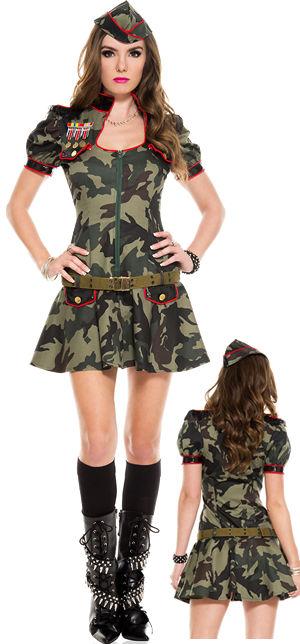 コスチューム LML70565 Sexy Army Brat Costume