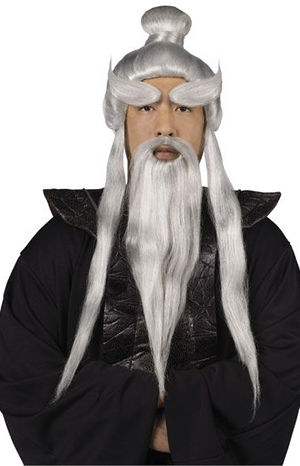 コスチューム LFU92034 Sensei Wig & Beard Set