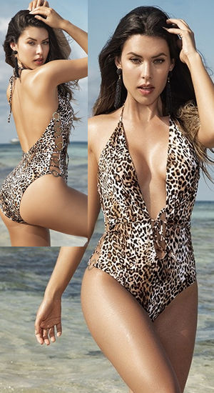 輸入水着 LEP6545 Animal Print One Piece Swimsuit
