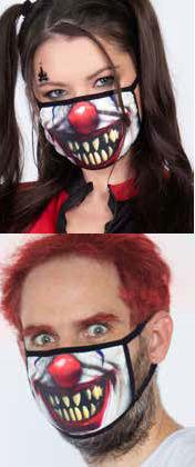 コスチューム LLAM1010 Creepy Clown Skull Mask