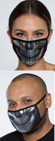 コスチューム LLAM1013 Iridescent Skull Mask