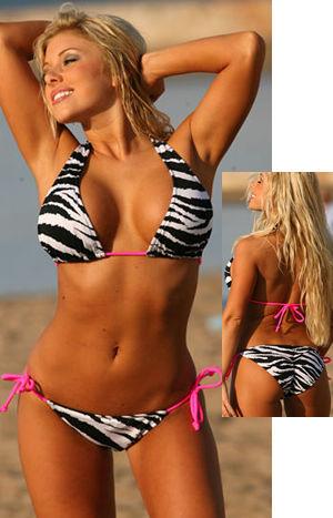 輸入水着 LUJP200 Hot Zebra Colmbian Tie Bikini